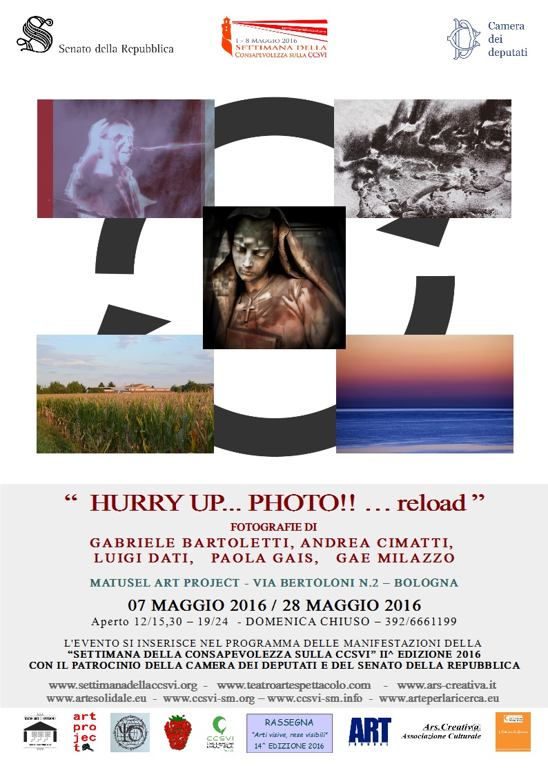 Manifesto : Bartoletti Cimatti Dati Gais                     Milazzo- Hurry Up Photo!! ... Reload-Bologna